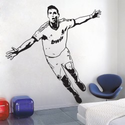 Cristiano Ronaldo The first top European league player Wandaufkleber Wandtattoo (WD-0702)