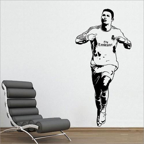 สติกเกอร์ติดผนัง Cristiano Ronaldo One of the best football players Wall Sticker
