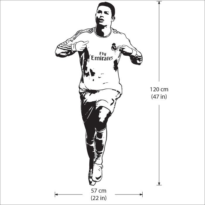 Cristiano ronaldo one of the best football players vinyl wall art decal voltagebd Choice Image