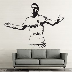 Cristiano Ronaldo Action Gold Vinyl Wall Art Decal (WD-0704)