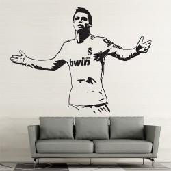 สติกเกอร์ติดผนัง Cristiano Ronaldo Action Gold Wall Sticker (WD-0704)