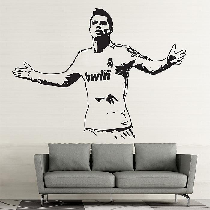 Cristiano ronaldo one of the best football players vinyl wall art decal cristiano ronaldo action gold vinyl wall art decal wd 0704 voltagebd Choice Image