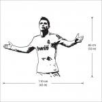 Cristiano Ronaldo Action Gold Vinyl Wall Art Decal