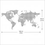 Dot World Map Vinyl Wall Art Decal