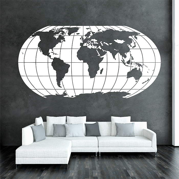 Globe map Vinyl Wall Art Decal