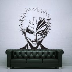 สติกเกอร์ติดผนัง บลีช เทพมรณะ Bleach Ichigo Kurosaki with Hollow Mask Wall Sticker (WD-0711)