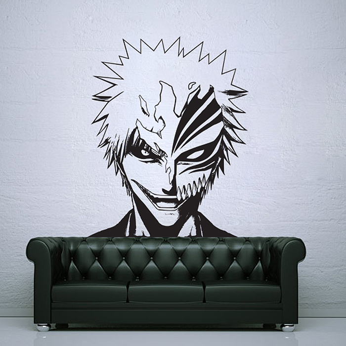 Tattoo Wall Art ichigo kurosaki with hollow mask vinyl wall art decal