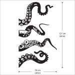 สติกเกอร์ติดผนัง Large Octopus Tentacles Wall Sticker
