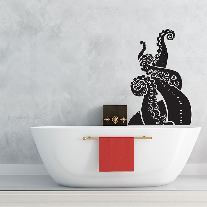 large octopus tentacles v.2 vinyl wall art decal