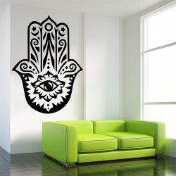 Hand of Fatima The Hamsa and Your Success V.1 Vinyl Wall Art Decal (WD-0716)
