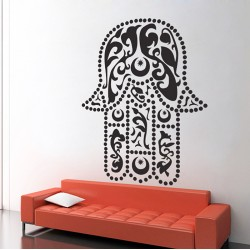 Hand of Fatima The Hamsa and Your Success V.2 Vinyl Wall Art Decal (WD-0717)