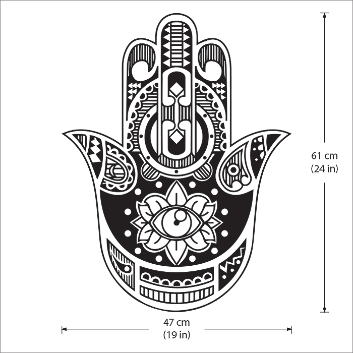 Sticker hand of fatma-several sizes and colours 0027