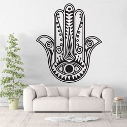 Hand of Fatima The Hamsa Vinyl Wall Art Decal (WD-0719)
