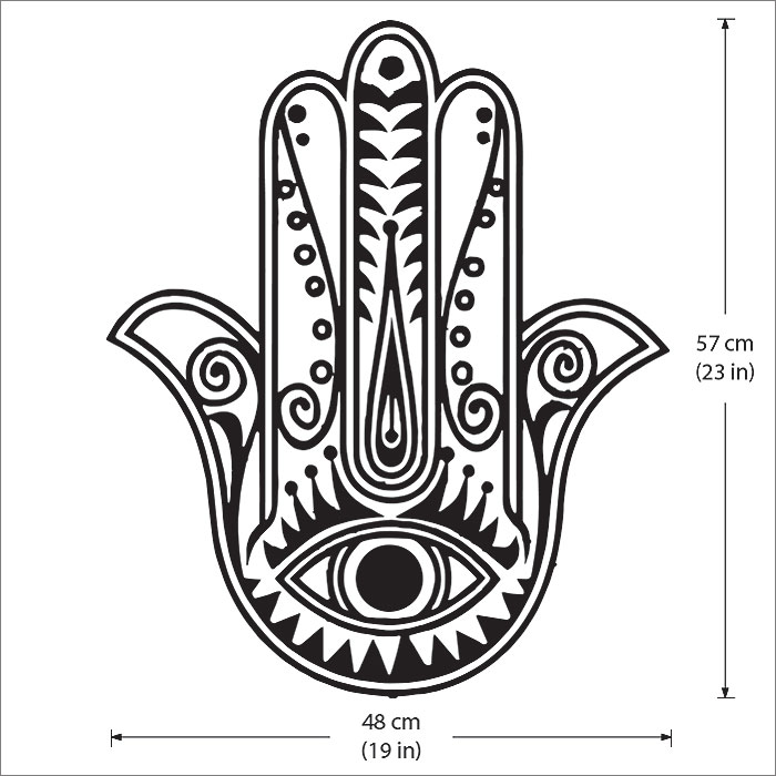 Hand Of Fatima The Hamsa Vinyl Wall Art Decal