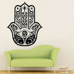 Hand of Fatima The Hamsa and Your Success V.5 Vinyl Wall Art Decal (WD-0720)