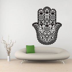 The Hamsa Hand of Fatima Goddess Vinyl Wall Art Decal (WD-0721)
