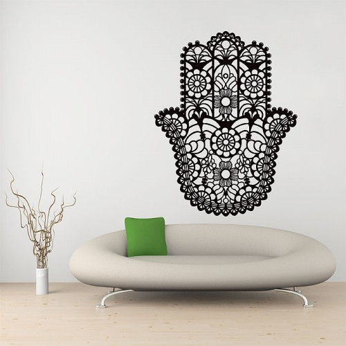 The Hamsa Hand of Fatima Goddess  Vinyl Wall Art Decal