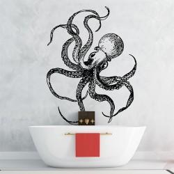 สติกเกอร์ติดผนังปลาหมึกยัก Octopus P.2 Wall Sticker (WD-0726)