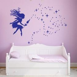 สติกเกอร์ติดผนัง นางฟ้าแฟรี่ Fairy Wall Sticker (WD-0731)