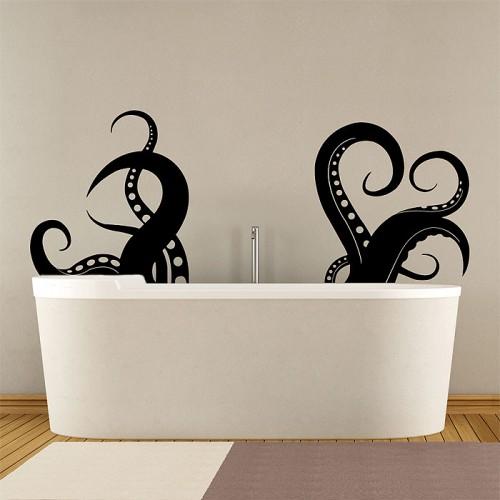 สติกเกอร์ติดผนัง หนวดปลาหมึกยัก Large Octopus Tentacles V.3 Wall Sticker