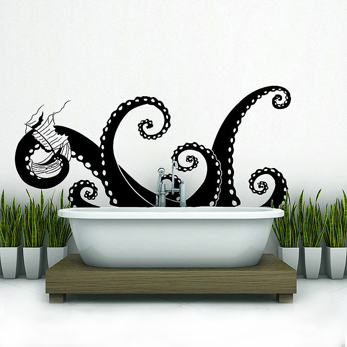 large octopus tentacles v.4 vinyl wall art decal