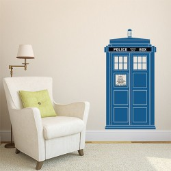 TARDIS Doctor Who Color Vinyl Wall Art Decal (WD-0735C)