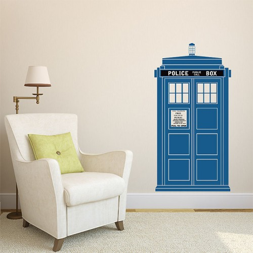 สติกเกอร์ติดผนัง TARDIS Doctor Who Color Wall Sticker