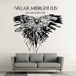 สติกเกอร์ติดผนัง Game of Thrones Valar Morghulis All Men Must Die Wall Sticker
