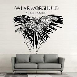 สติกเกอร์ติดผนัง Game of Thrones Valar Morghulis v1 Wall Sticker (WD-0736)