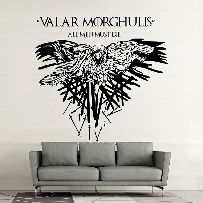 Wall Art For Men game of thrones valar morghulis all men must die vinyl wall art decal