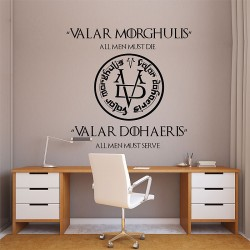 สติกเกอร์ติดผนัง Game of Thrones Valar Morghulis Valar Dohaeris  Wall Sticker (WD-0738)