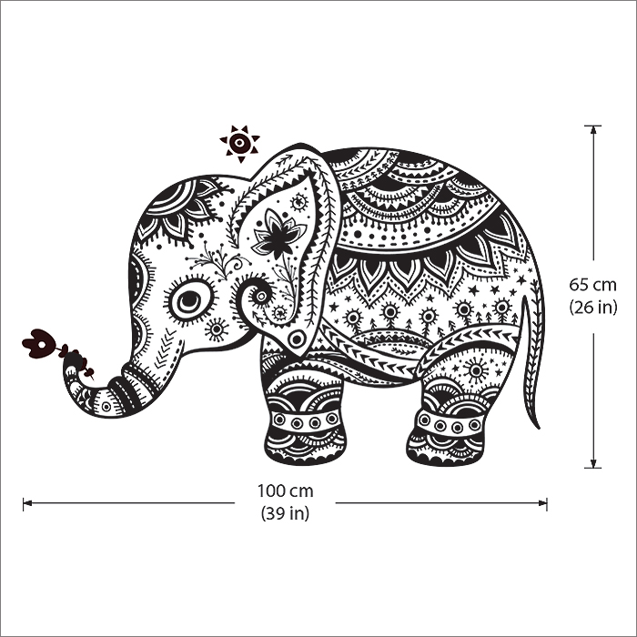 Tattoo Wall Art elephant tattoo vinyl wall art decal