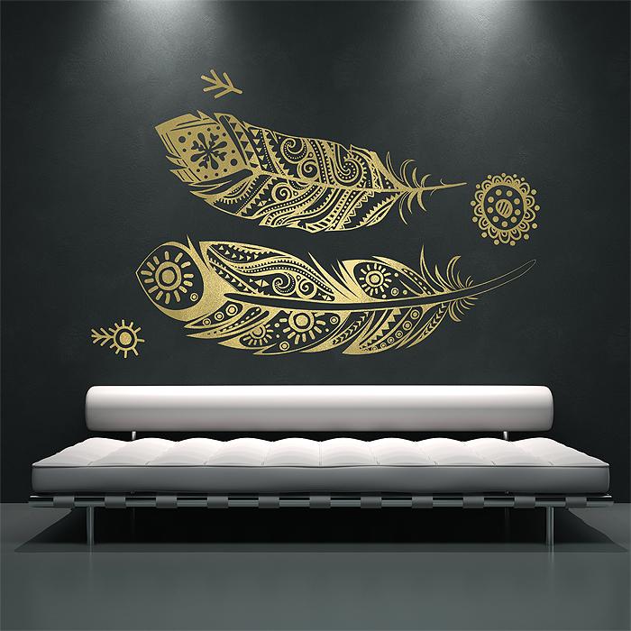 v gel feder tattoo wandaufkleber wandtattoo. Black Bedroom Furniture Sets. Home Design Ideas