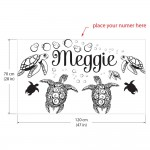 สติกเกอร์ติดผนัง ใส่ชื่อได้ Sea Turtle Ocean Wall Sticker