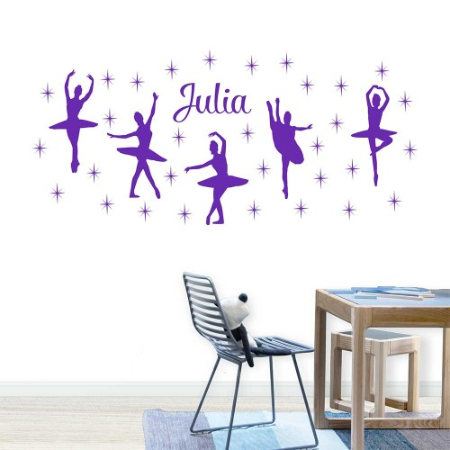 Ballet Dance Ballerinas Stars Personalized Wall Decals