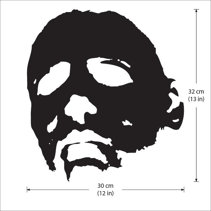 Michael Myers Face Halloween Vinyl Wall Art Decal - Myers Face Halloween Vinyl Wall Art Decal