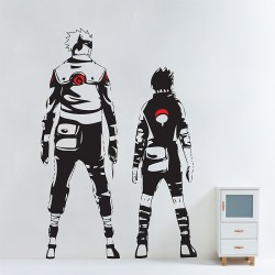 Kakashi and Sasuke in Naruto Vinyl Wall Art Decal (WD-0763)