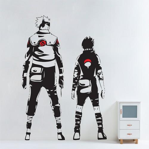 สติกเกอร์ติดผนัง Kakashi and Sasuke in Naruto Wall Sticker