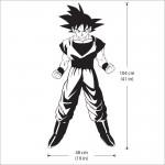 สติกเกอร์ติดผนัง Dragon Ball Z Goku Wall Sticker