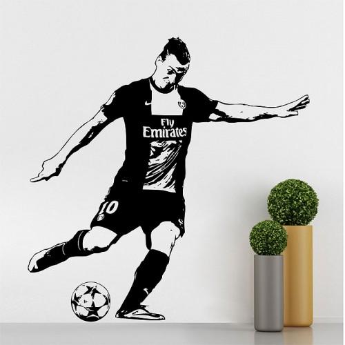 สติกเกอร์ติดผนังนักฟุตบอล Zlatan Ibrahimovic Soccer Star Wall Sticker