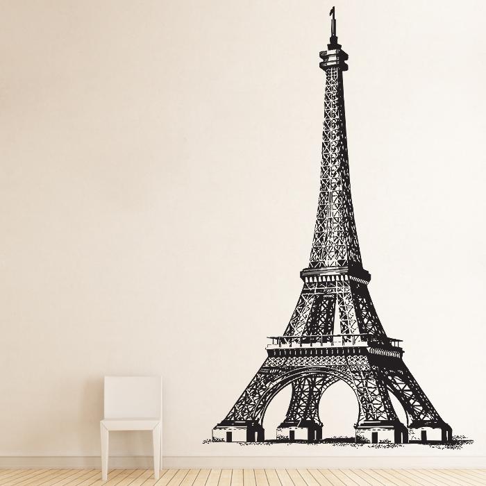 eiffel tower paris vinyl wall art decal