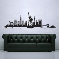 สติกเกอร์ติดผนังเมืองนิวยอร์ก New York City Skyline Wall Sticker (WD-0773)