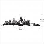 สติกเกอร์ติดผนังเมืองนิวยอร์ก New York City Skyline Wall Sticker