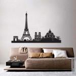 สติกเกอร์ติดผนังเมืองปารีส Paris City Skyline Wall Sticker