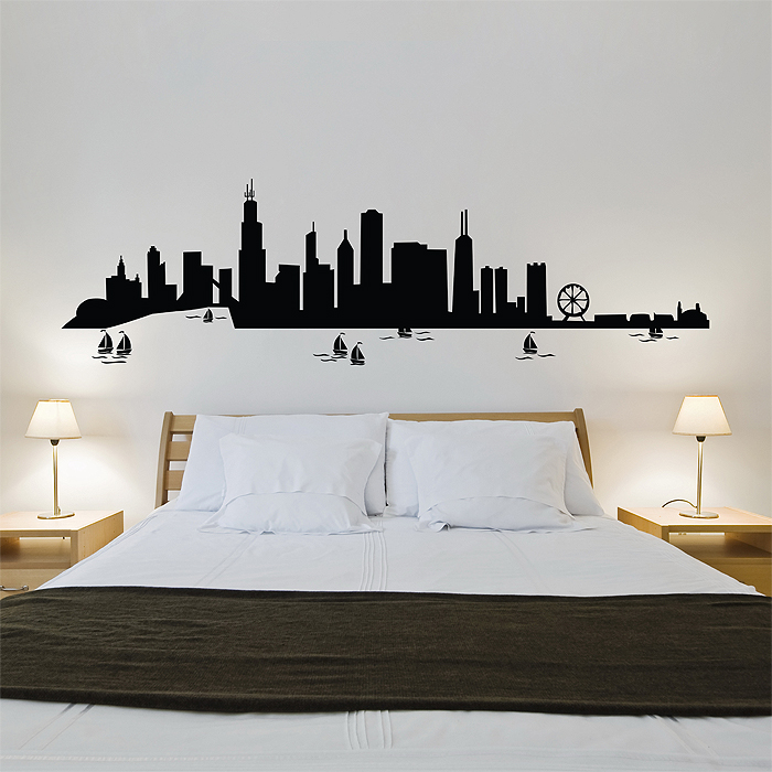 Chicago City Skyline Vinyl Wall Art Decal