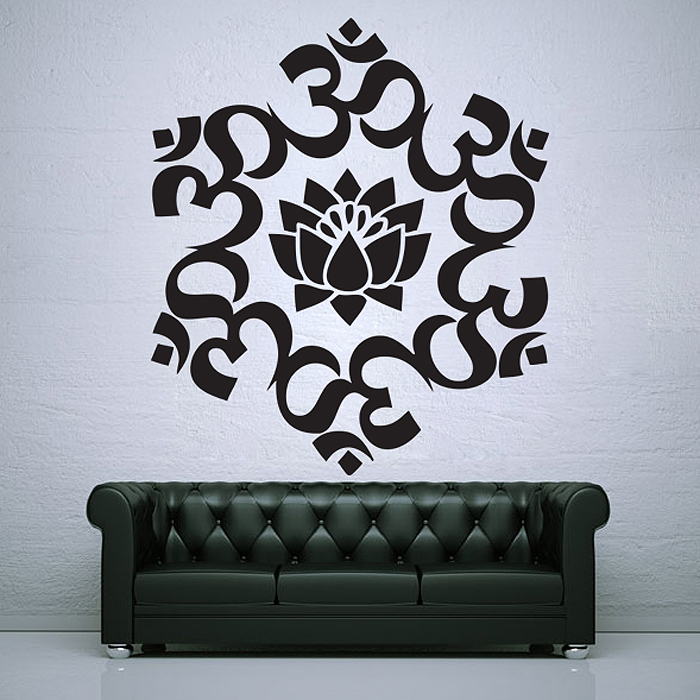 Tattoo Wall Art um lotus circle buddhism symbol vinyl wall art decal