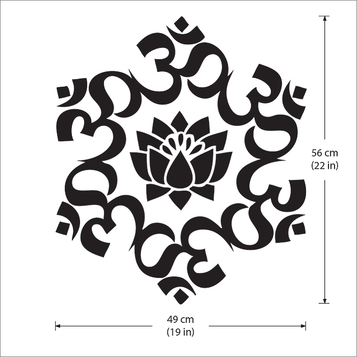 Om Um Lotus Circle Buddhism Symbol Vinyl Wall Art Decal