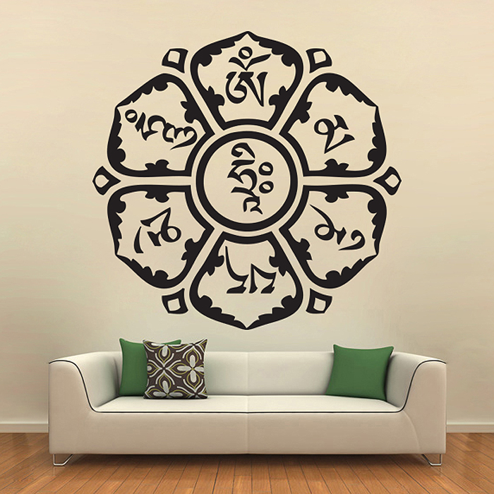 Om Am Mani Padme Hindu Vinyl Wall Art Decal