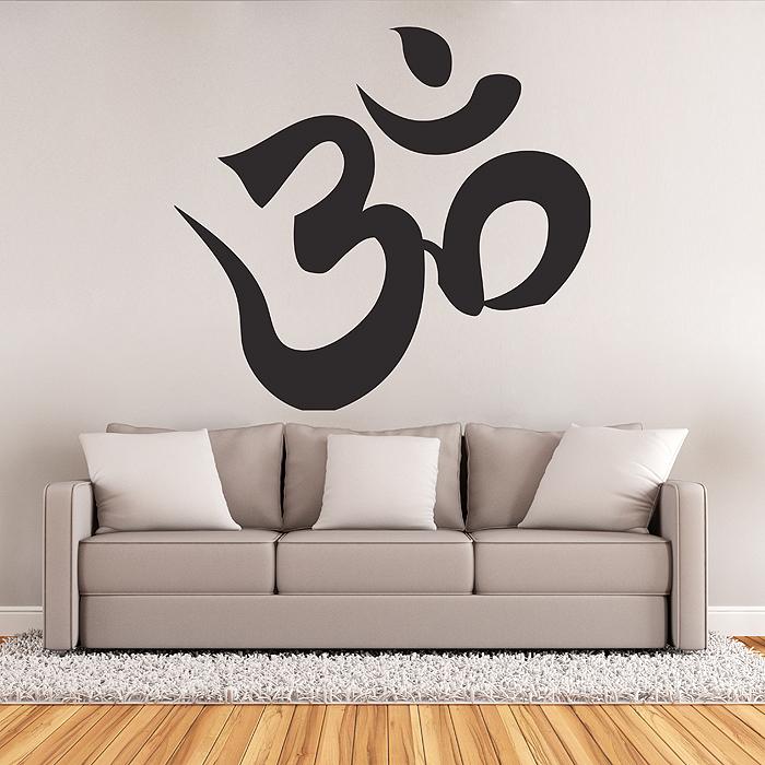 Hindu om aum symtol buddhism Vinyl Wall Art Decal