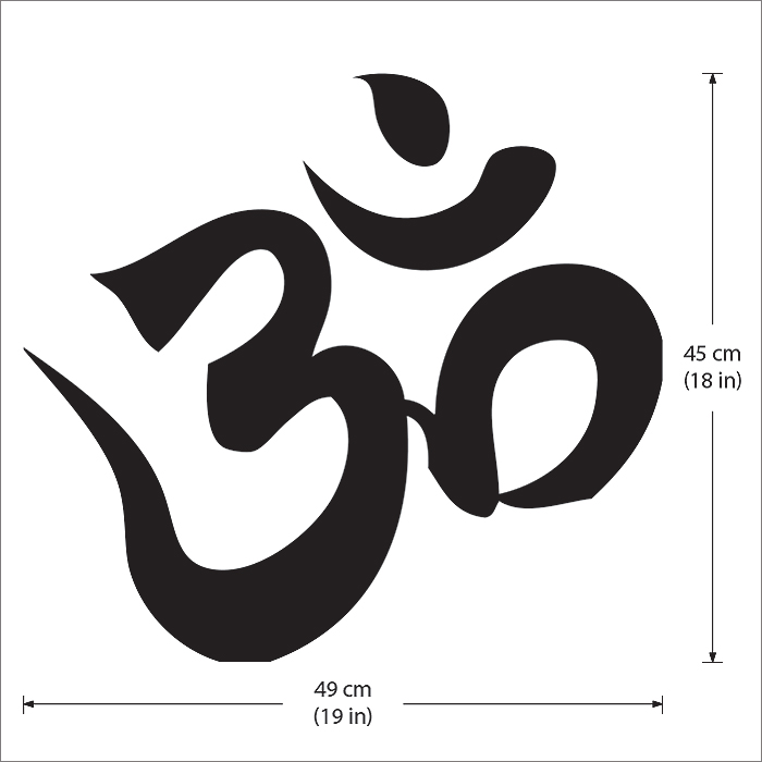 Hindu Om Aum Symtol Buddhism Vinyl Wall Art Decal